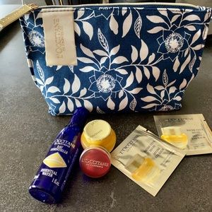 L'occitane NEW Canvas pouch with travel essentials